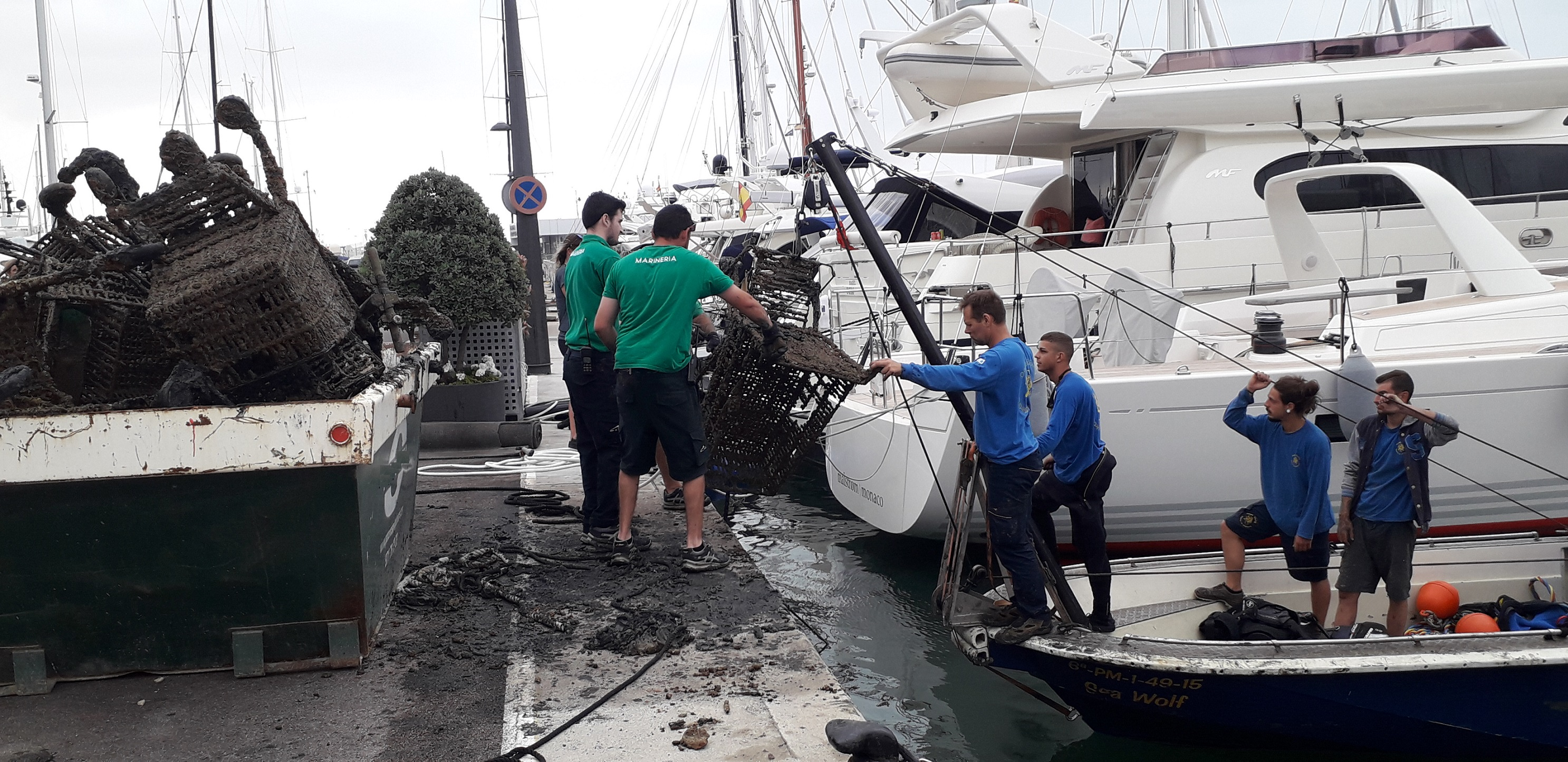Marina Port de Mallorca and Marina Palma Cuarentena declare war on waste hiding under the sea
