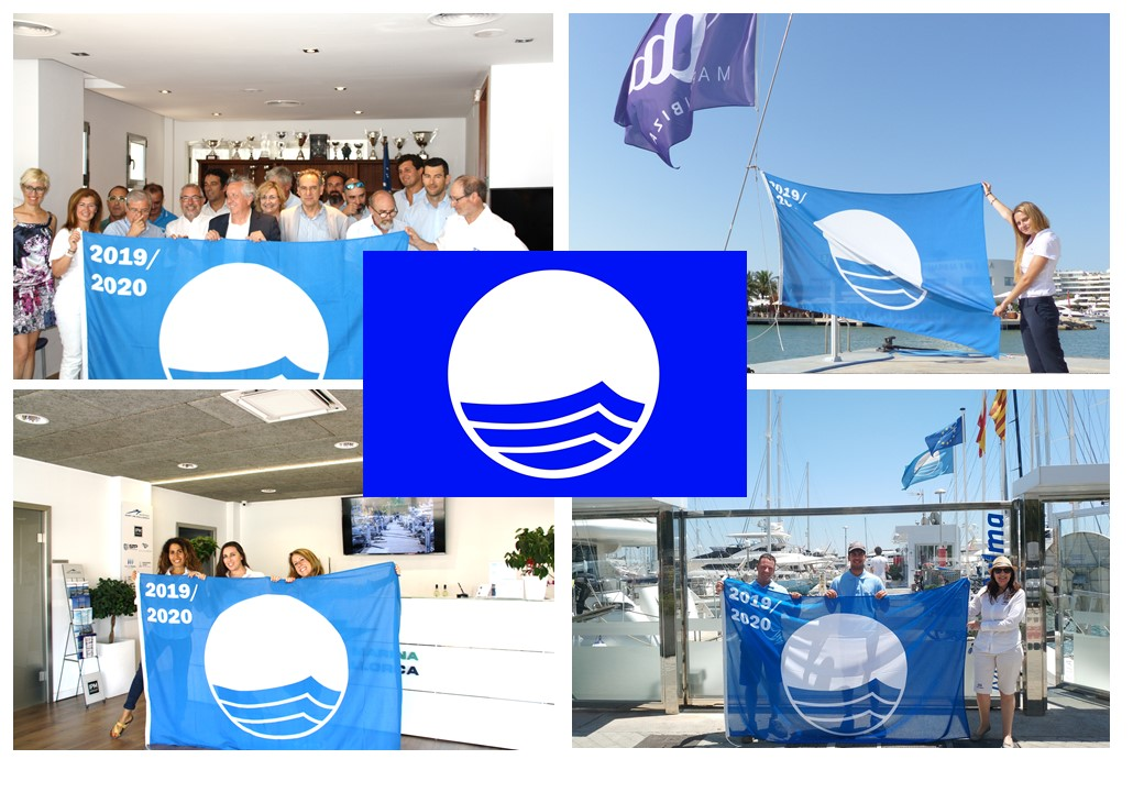 Blue Flag is hoisted again at Marina Port de Mallorca, Marina Palma Cuarentena and Marina Ibiza